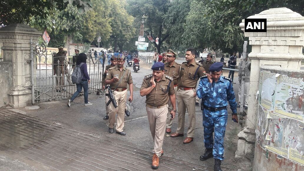 Police and Rapid Action Force were deployed around the campus, in an attempt to contain the protests.