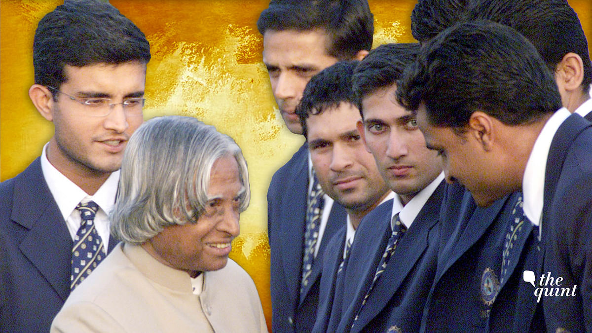 After they lost to Australia in the 2003 WC final, President Kalam had hosted the Indian team at Rashtrapati Bhavan.