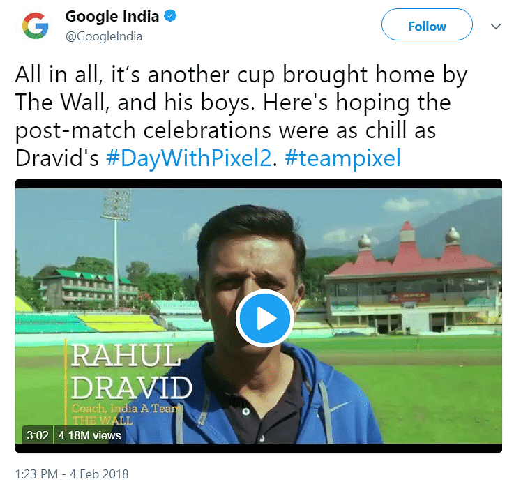 The ever dependable Rahul Dravid was brought in to apparently build trust.