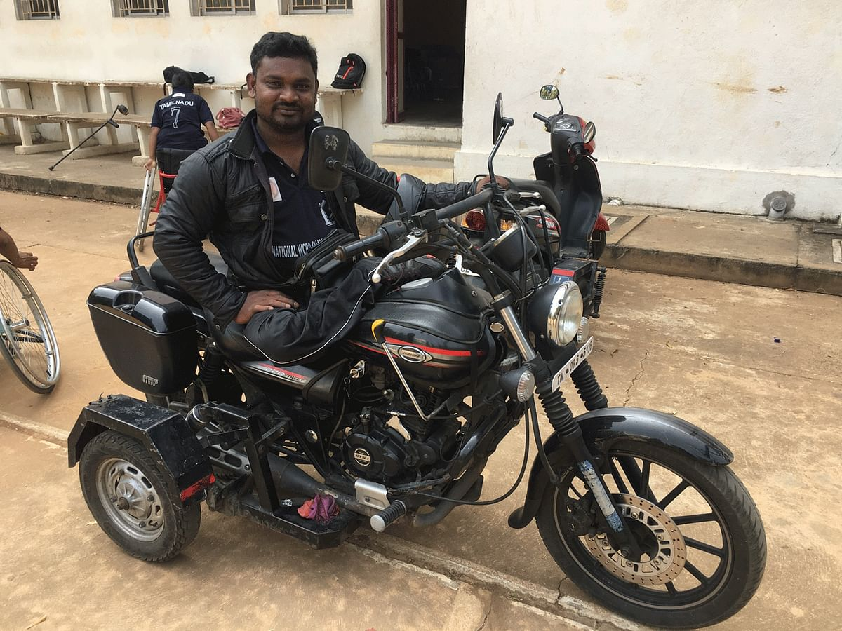 Prakash says nothing could stop him from being the bike fanatic that he is.