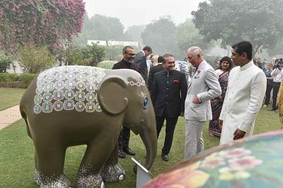 Billionaire diamond trader Nirav Modi (in Black) with HRH Prince Charles of Wales. (File Photo: IANS)