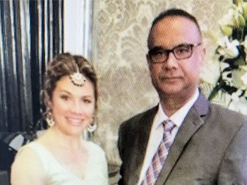 Sophie Trudeau and Jaspal Atwal pictured in Mumbai 20 February.