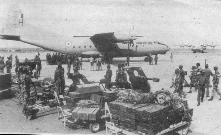 Indian Troops were in the Maldives within hours of receiving the message from President Gayoom in 1988's Operation Cactus.