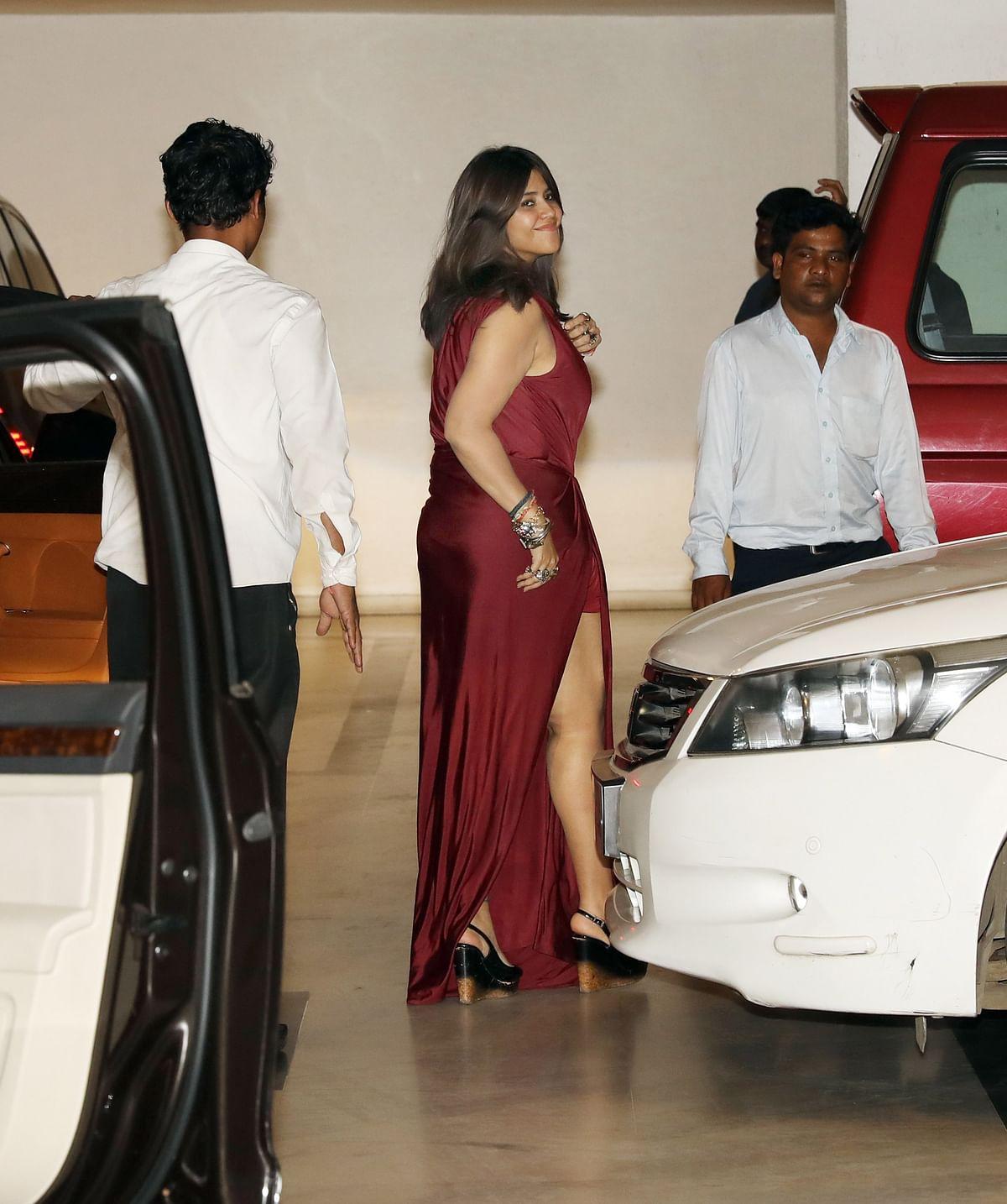 Ekta Kapoor looked ready to groove through the all-single night.