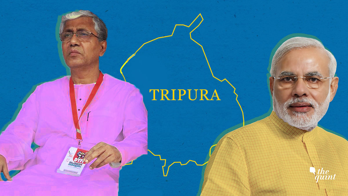 Tripura CM Manik Sarkar (L), PM Modi (R). Image used for representational purposes.
