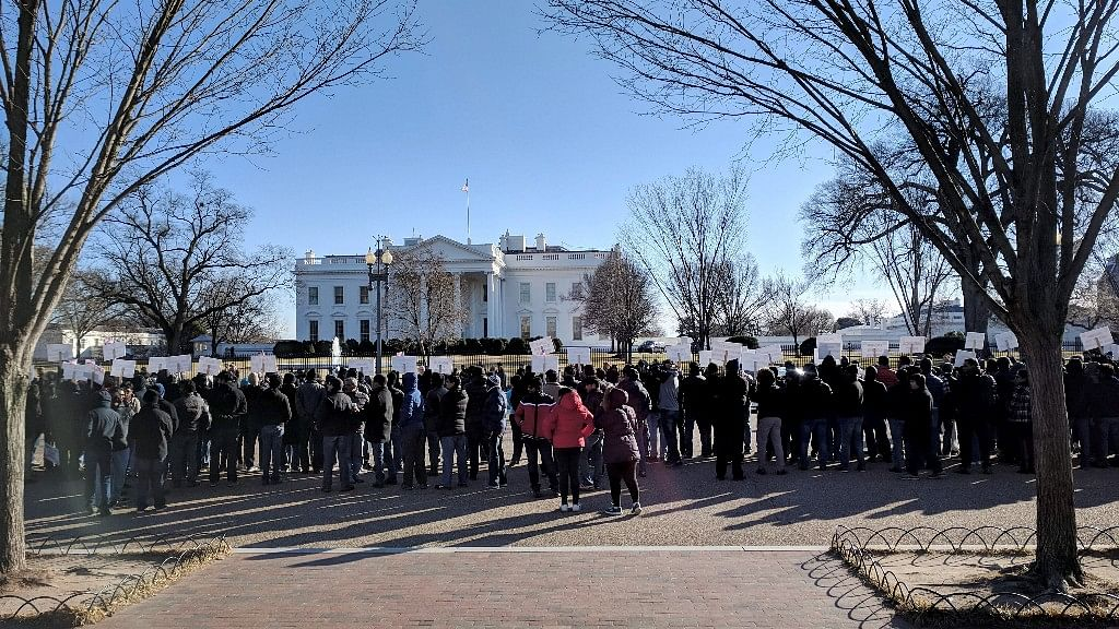 US-Based Indians Hold Rally, Demand Green Card Backlog Clearance