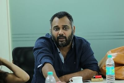 New Delhi: Director Luv Ranjan during an interview at IANS office in New Delhi on Sep 18, 2015. (Photo: Sunil Majumdar/IANS)