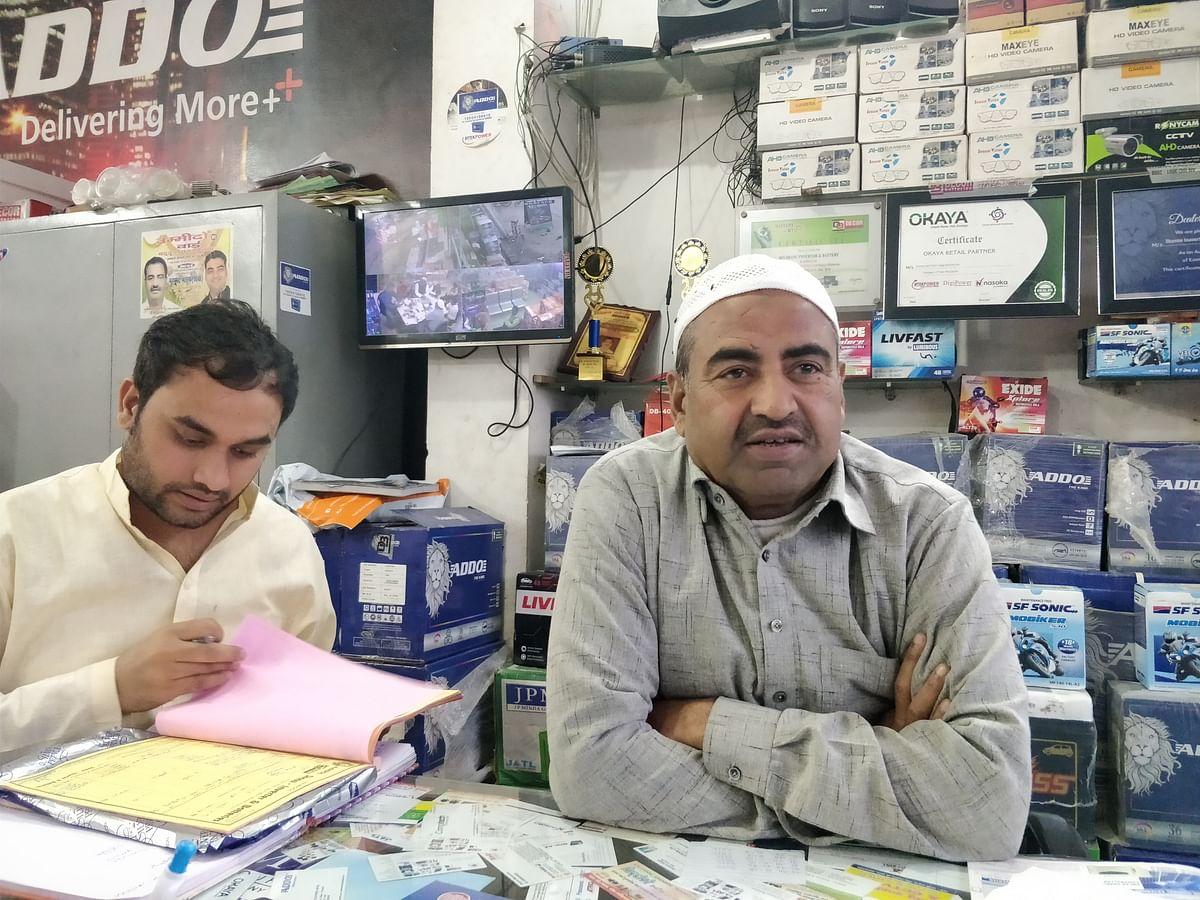 Dr Mohammad Farooq at his shop.