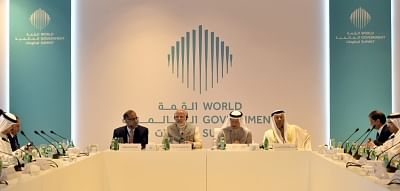 Abu Dhabi: Prime Minister Narendra Modi with the business leaders from Gulf Cooperation Council Countries in Abu Dhabi, United Arab Emirates on Feb 11, 2018.