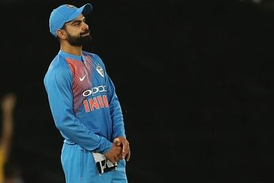 Centurion: Indian captain Virat Kohli reacts as the game slips away during the 2nd T20I between South Africa and India at SuperSport Park in Centurion, South Africa on Feb 21, 2018. (Photo: BCCI/IANS) (Credit Mandatory)