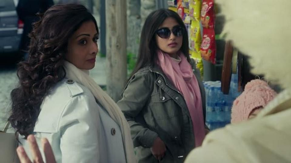 Sajal Ali and the late Sridevi in a still from <i>Mom</i>.&nbsp;