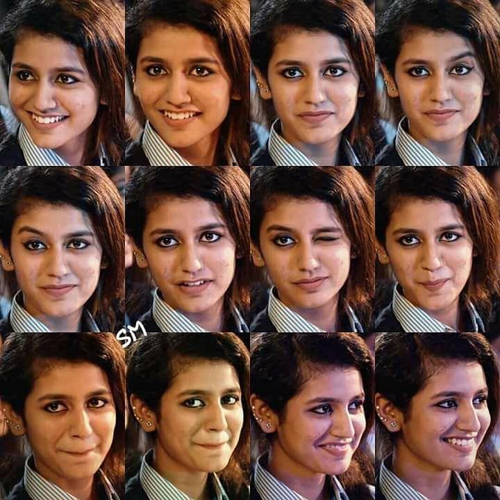 Priya Varrier's viral expressions.