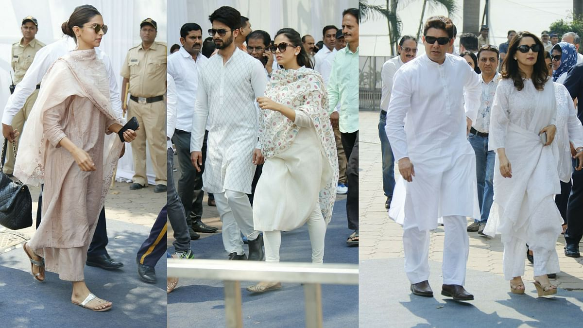 Deepika, Shahid, Madhuri & Others Pay Their Respects to Sridevi