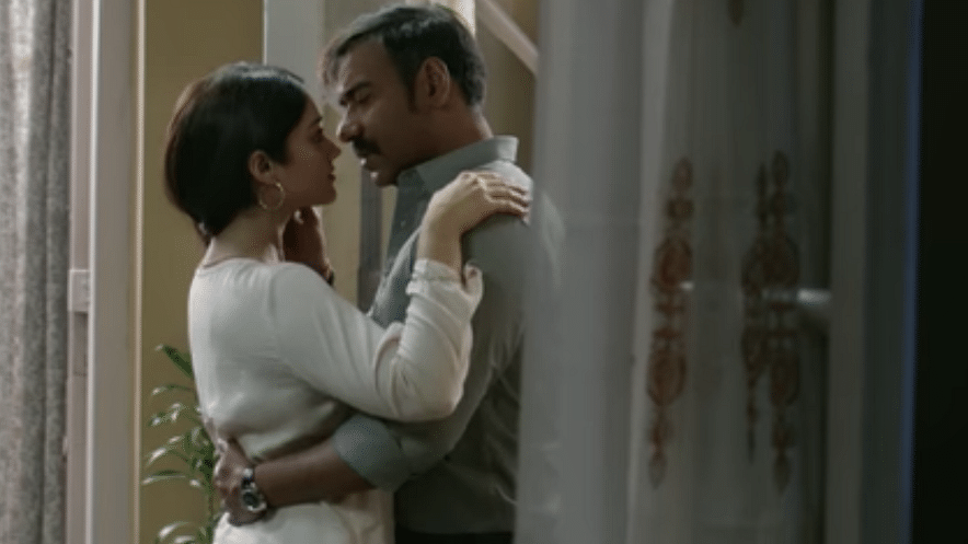 Ajay Devgn and Ileana in a still from the song 'Sanu Ek Pal Chain' from Raid