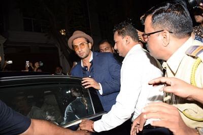 Mumbai: Actor Ranveer Singh arrives at actor Anil Kapoor
