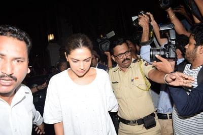 Mumbai: Actress Deepika Padukone arrives at actor Anil Kapoor