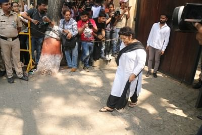 Mumbai: Choreographer Saroj Khan arrives at actor Anil Kapoor