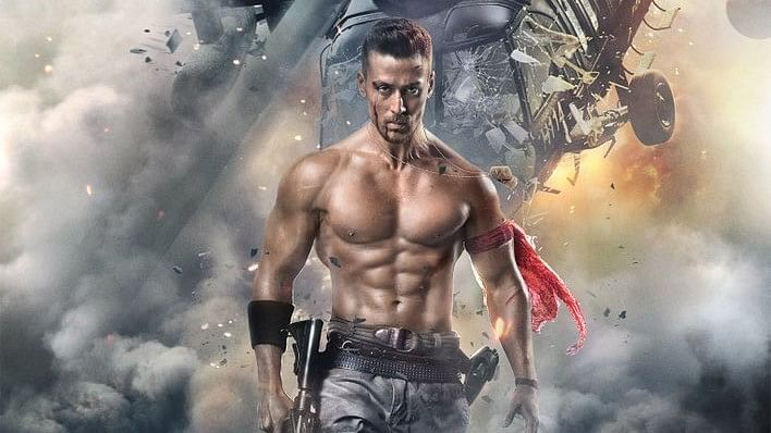 Tiger Shroff in a poster of <i>Baaghi 2</i>.