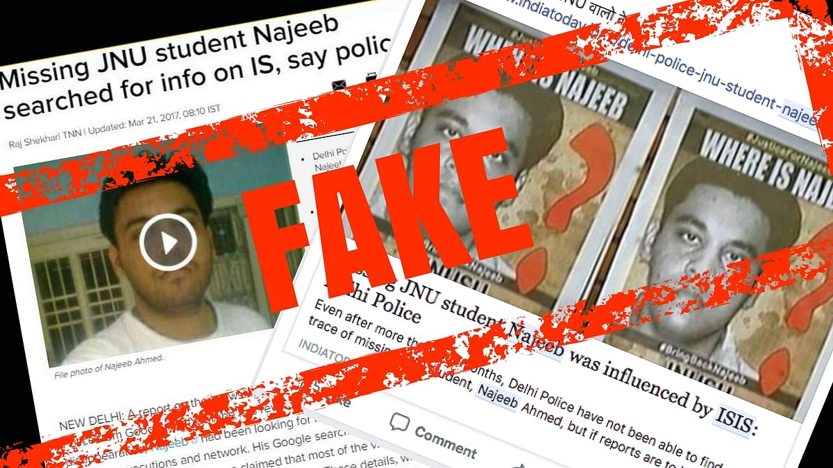"""Some people are sharing a 2017 report of <a href=""""https://timesofindia.indiatimes.com/city/delhi/missing-jnu-student-najeeb-searched-for-info-on-is-say-police/articleshow/57740974.cms"""">The Times of India</a> insinuating that Najeeb could be an ISIS sympathiser."""