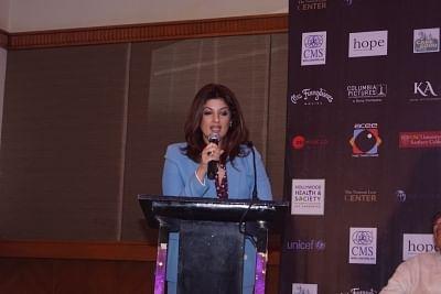 Mumbai: Actress Twinkle Khanna during a programme in Mumbai on Feb 14, 2018. (Photo: IANS)