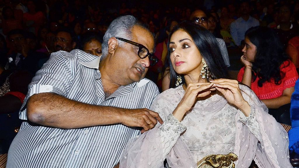 Boney Kapoor and Sridevi.