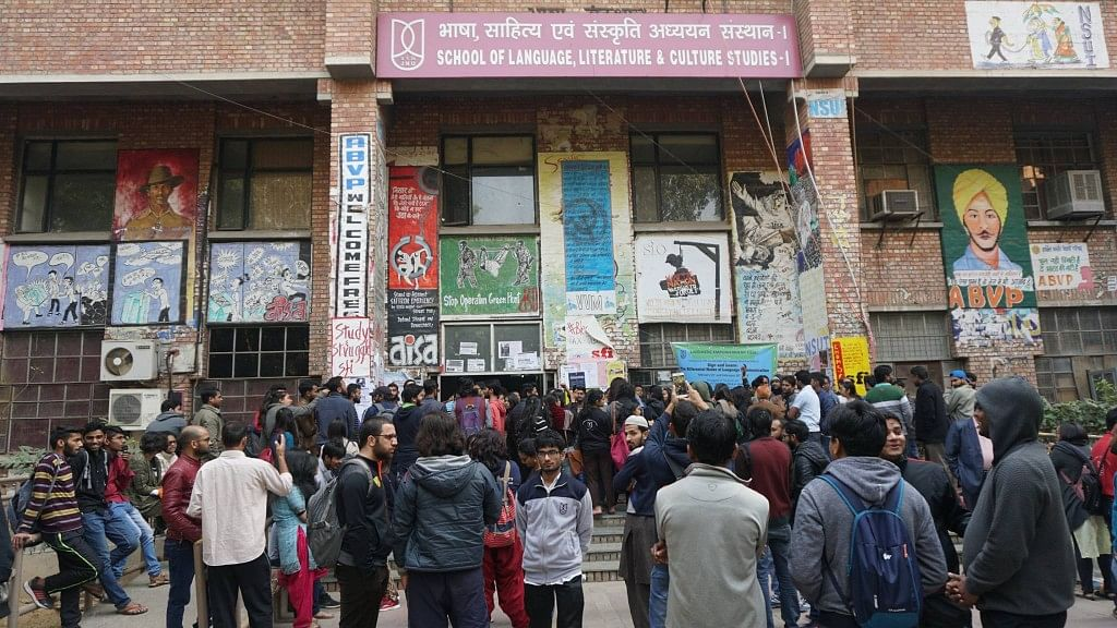 JNU Professor Accused of Manhandling Woman Student During Protest