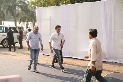 Mumbai: Actor Arbaaz Khan attend the funeral of late actress Sridevi in Mumbai on Feb 28, 2018. Veteran actress Sridevi passed away following accidental drowning in a bathtub in her hotel room in Dubai on Saturday night. She was 54. The actress was in Dubai to attend the marriage function of actress Sonam Kapoor
