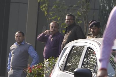 New Delhi: Karti Chidambarm, son of former Union Finance Minister P. Chidambaram being taken to Patiala House Courts inNew Delhi on Feb 28, 2018. He was arrested from Chennai in connection with the alleged irregularities in the Foreign Investment Promotion Board (FIPB) clearance in the INX Media case. (Photo: IANS)
