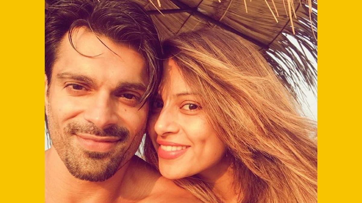 Karan Singh Grover and Bipasha Basu in Goa.