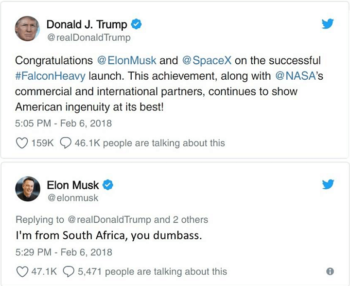 No, Elon Musk Didn't Call Trump a Dumb***, The Viral Image is Fake