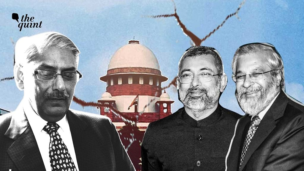 Justice Arun Mishra (left) held a 2014 decision by Justices Kurian Joseph (centre) and Madan Lokur (right) per incuriam, instead of referring the matter to a higher bench.