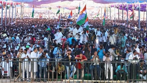 A large crowd had gathered for a tribal rally in the Raichur district of North Karnataka.