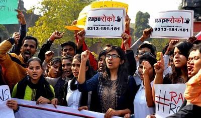 New Delhi: Delhi Commission for Women (DCW) Swati Maliwal participates in a nationwide campaign