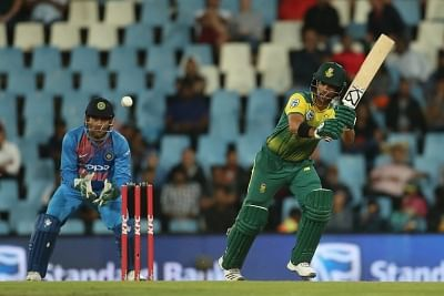 Centurion:  JP Duminy of South Africa in action during the 2nd T20I between South Africa and India at SuperSport Park in Centurion, South Africa on Feb 21, 2018. (Photo: BCCI/IANS) (Credit Mandatory)
