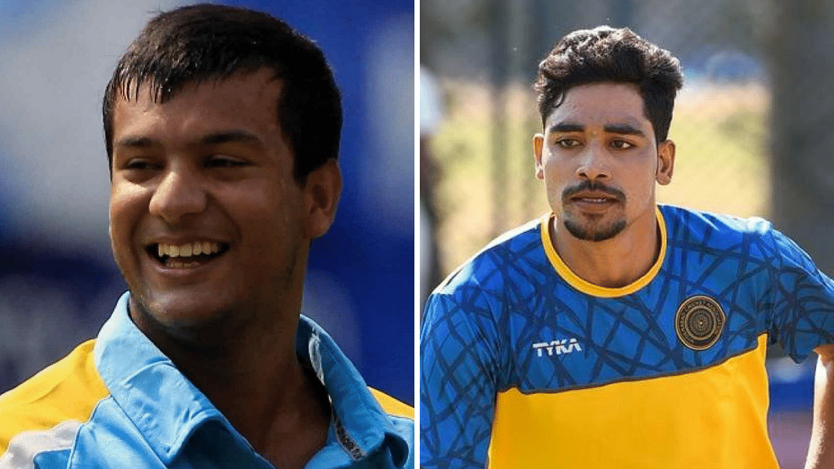 File picture Mayank Agarwal (left) and Mohammad Siraj.