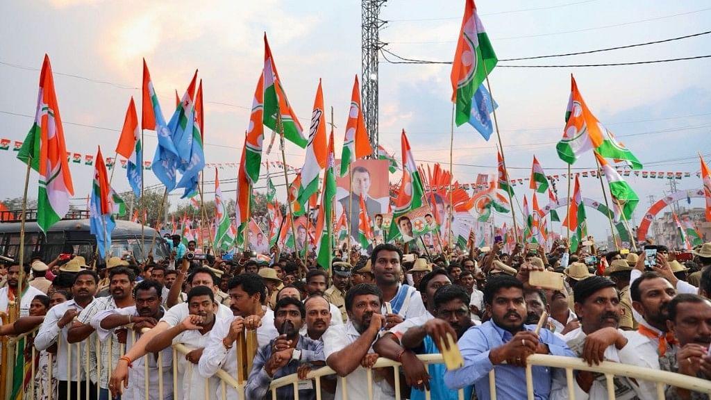 The crowd at  Rahul Gandhi's rally in north Karnataka.