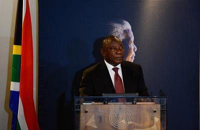 Cyril Ramaphosa. (Xinhua/Zhai Jianlan/IANS)