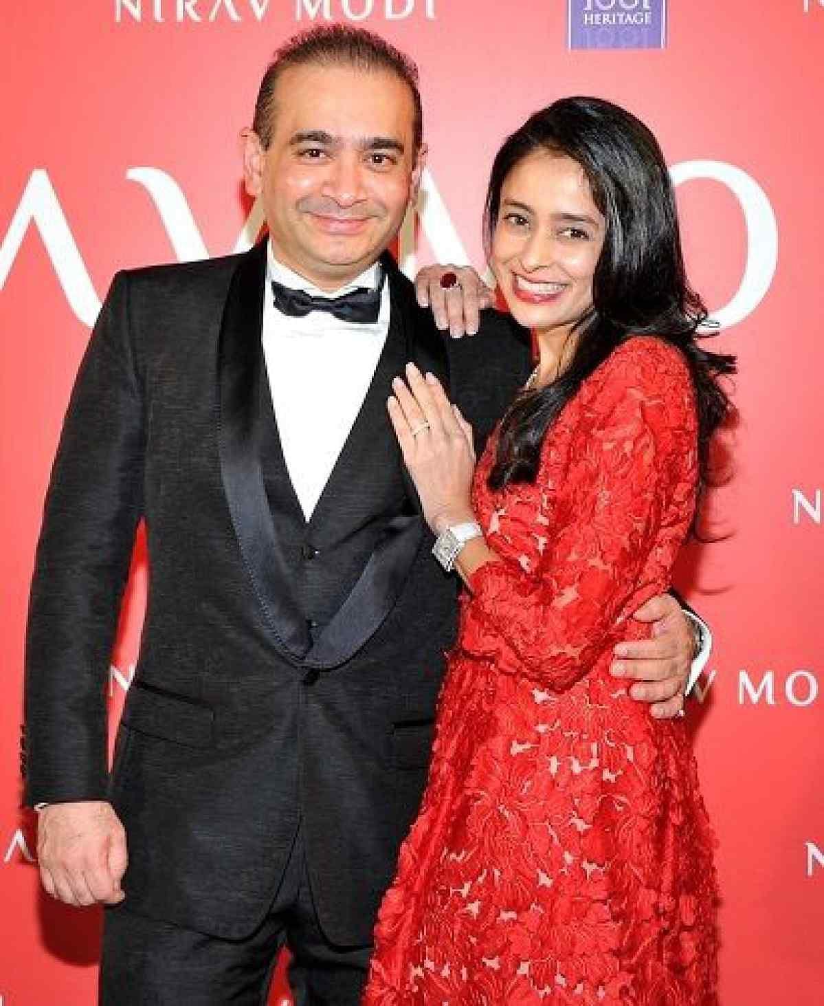 Nirav Modi with his wife Ami Nirav Modi.