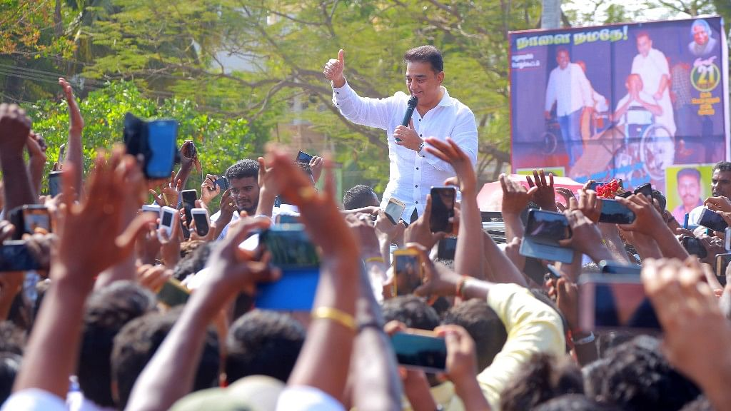 Kamal Haasan promised to work for the welfare of the people and encouraged all youngsters to join him.