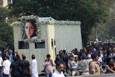 Mumbai: Last rites of actress Sridevi underway in Mumbai on Feb 28, 2018. (Photo: IANS)