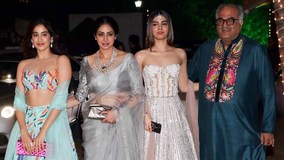 Sridevi with her family.