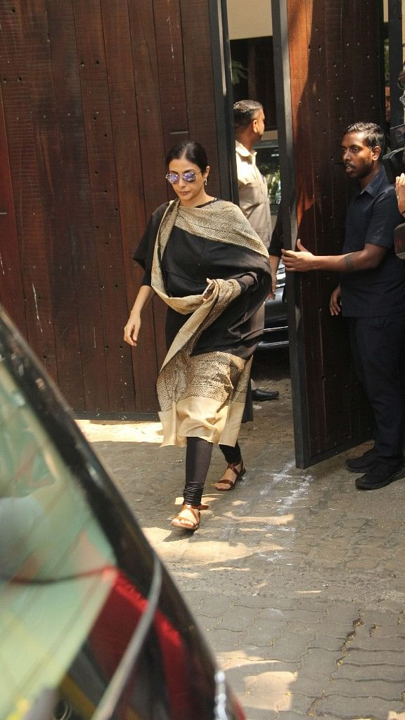 Actor Tabu also makes her way to visit the family in anguish.