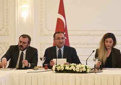 Turkish Deputy Prime Minister Bekir Bozdag (C). (File Photo: Xinhua/He Canling/IANS)