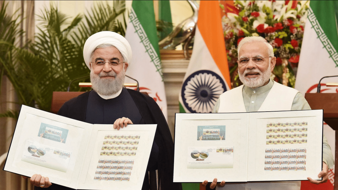 Iranian President Rouhani and PM Narendra Modi released commemorative stamp celebrating India-Iran relations.