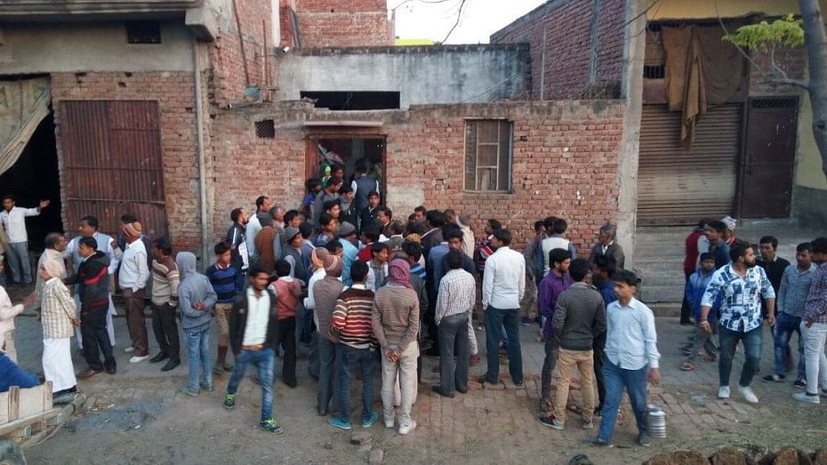 Commotion in Modinagar after the incident.