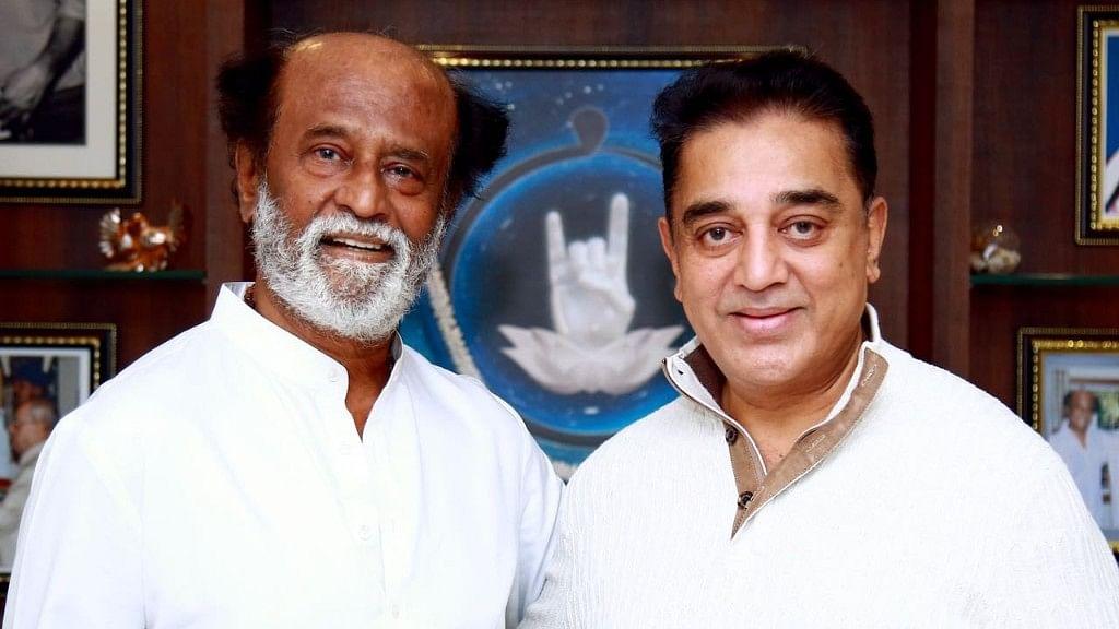 Kamal Haasan met Rajinikanth at his residence.
