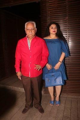 Mumbai: Director Ramesh Sippy and his wife Kiran Juneja at producer Bhushan Kumar