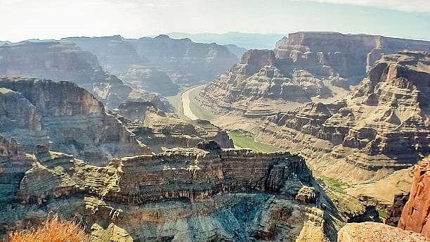 Three tourists were killed as a helicopter crashed in the Grand Canyon on Saturday.