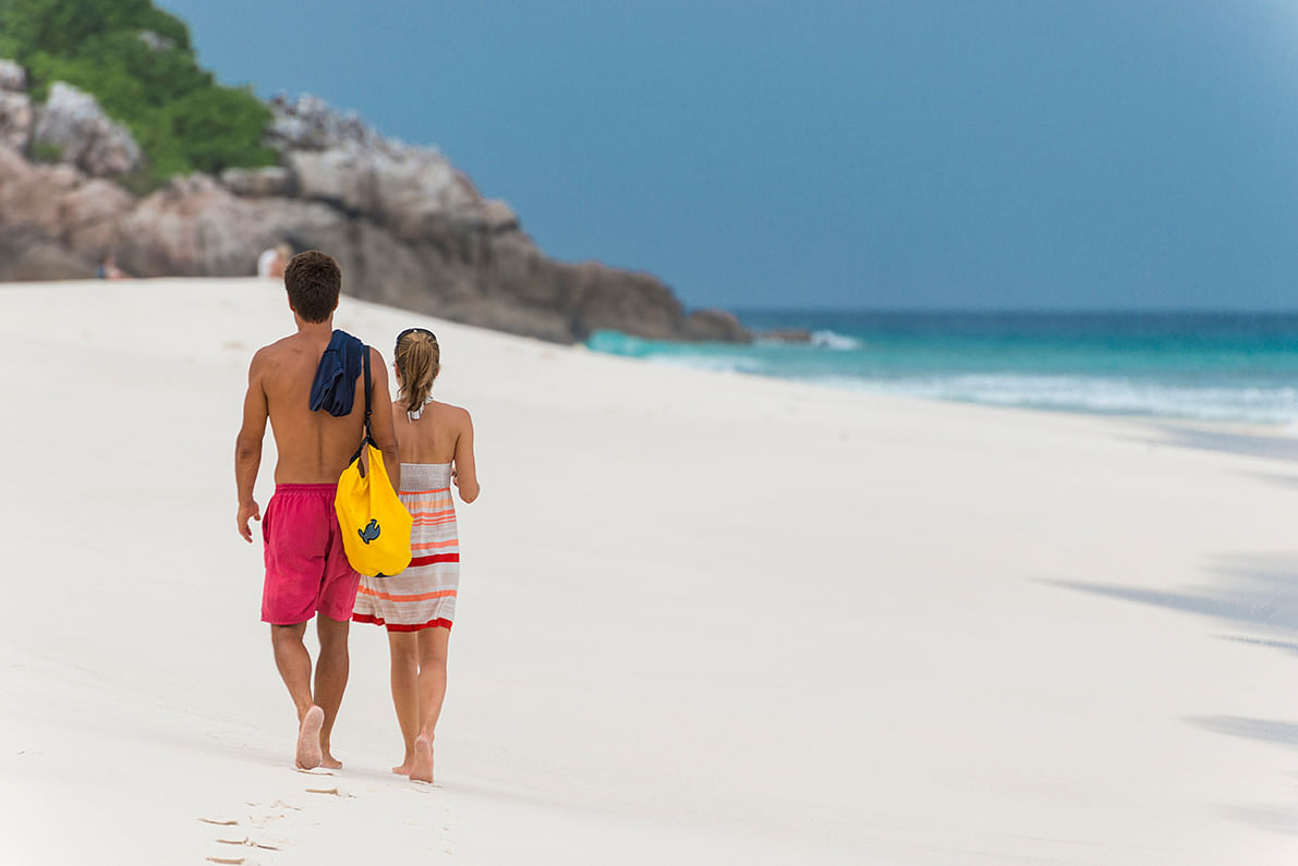 Nothing like getting intimate on the white, sandy beaches of Seychelles.