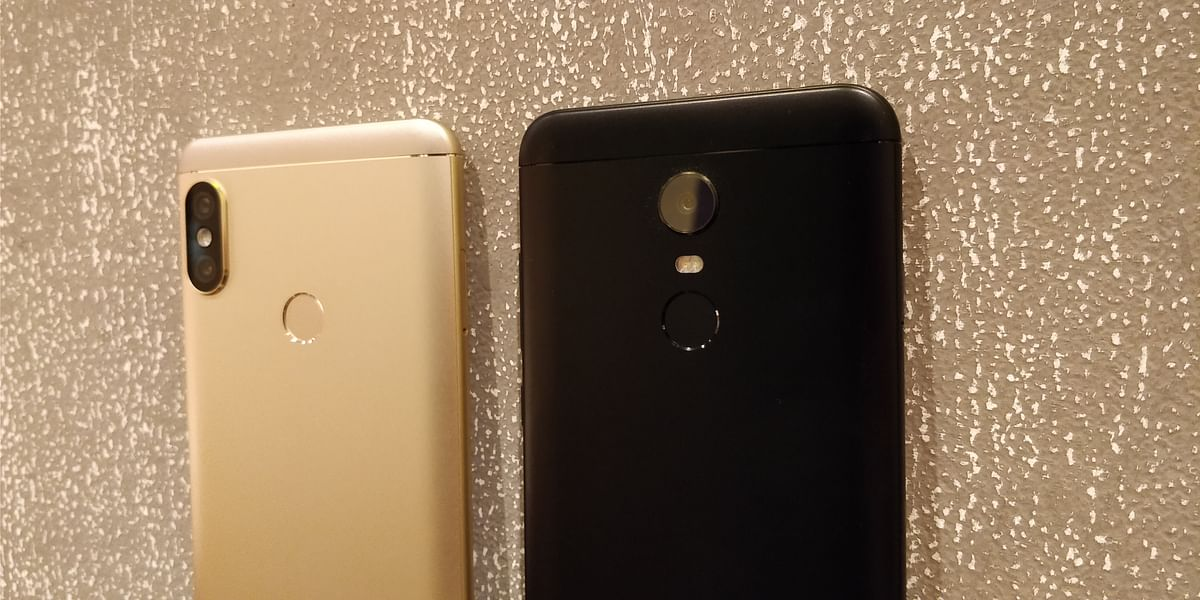 The Redmi Note 5 Pro (left) sports a dual 12+5 megapixel camera